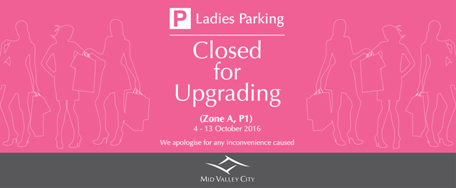 Ladies Parking Closed